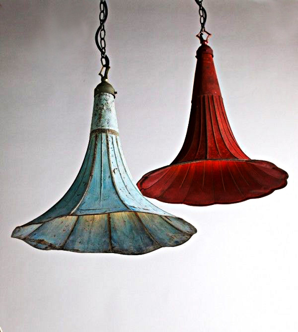 lampa, högtalare, recycling, dekorativt