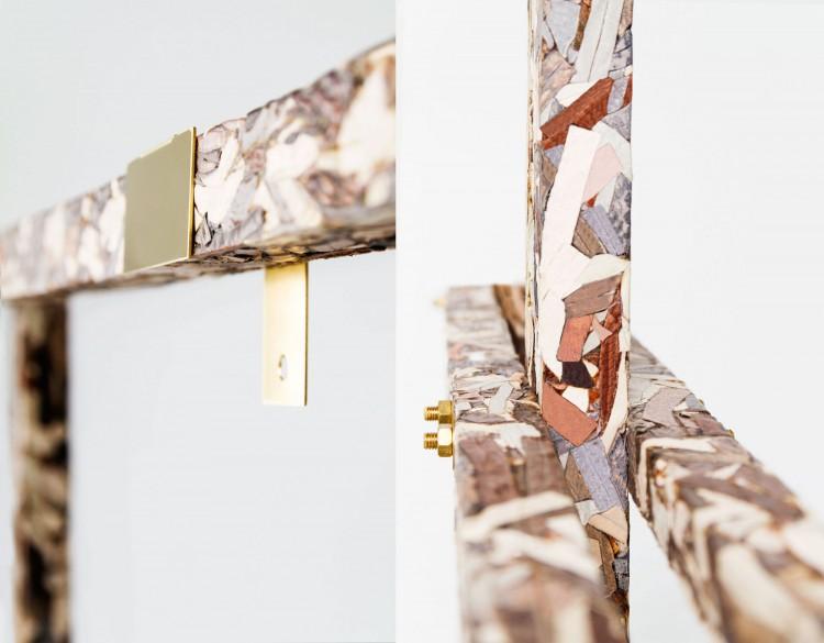 Skinnmöbler, mosaik, intarsia, mässing