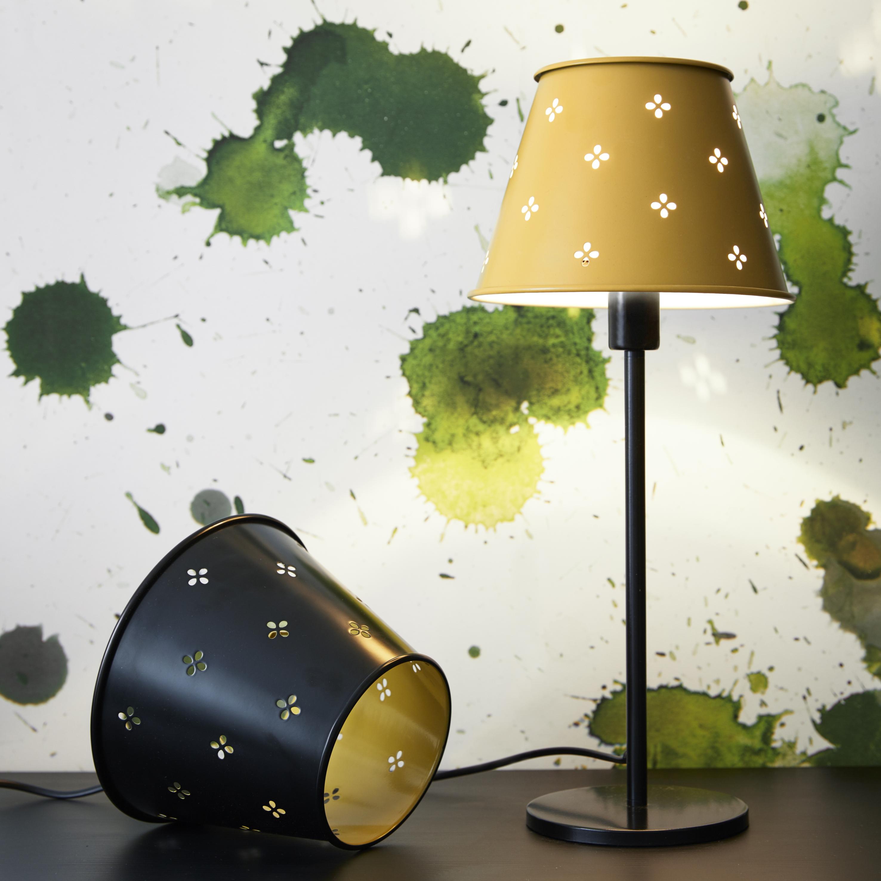 Lampskärmar från Ikeas nya kollektion Sällskap, kommer ut i butik 7 oktober.