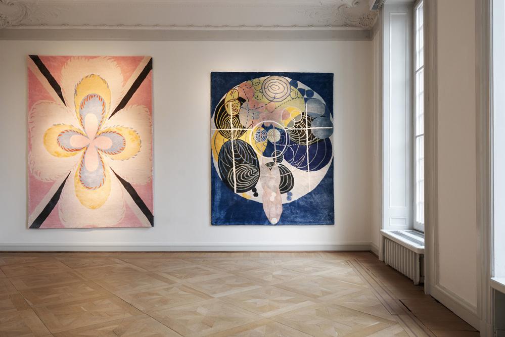 Hilma af Klint nu som vackra mattor av Asplund och Stiftelsen Hilma af Klint.
