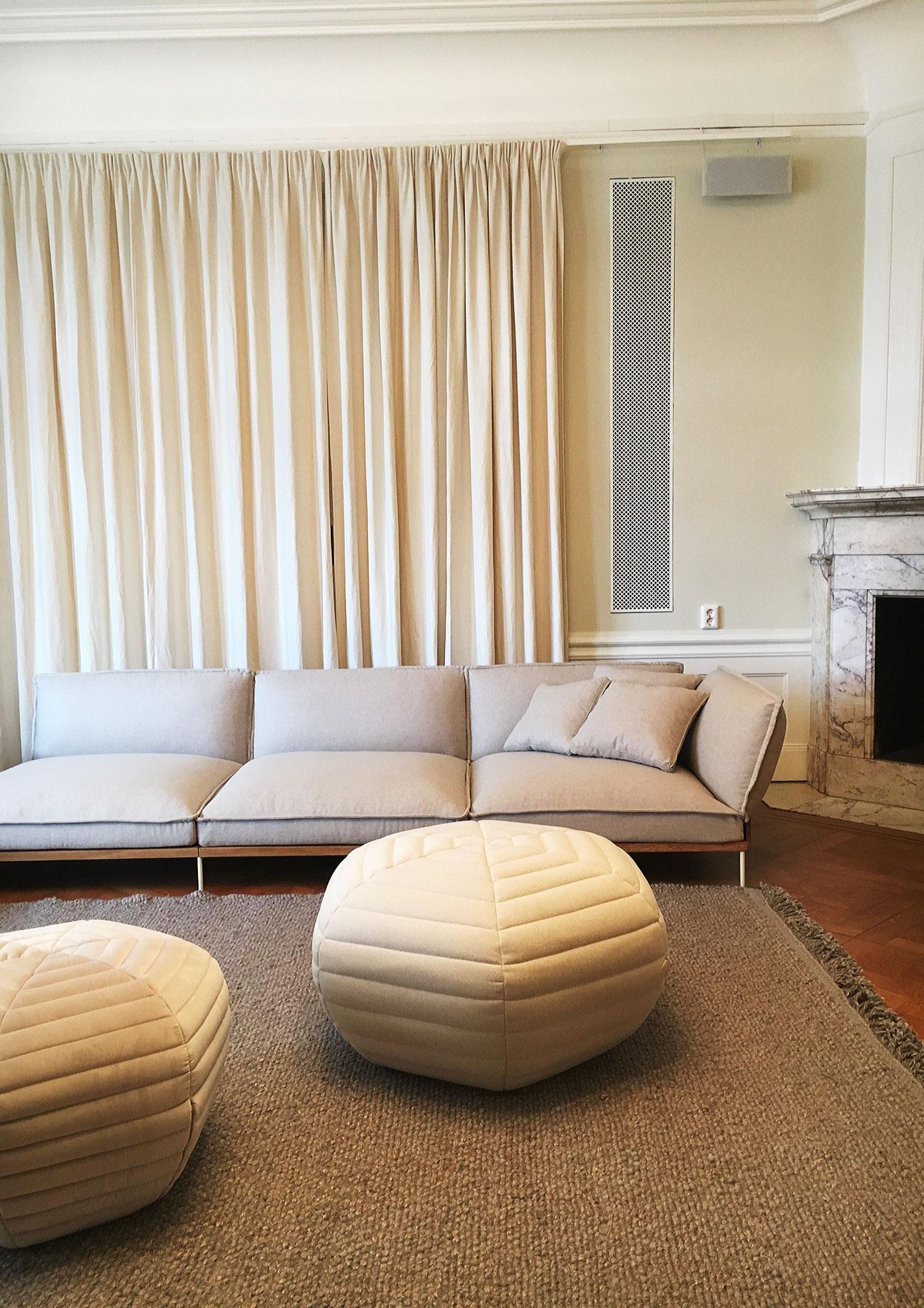 Luca Nichetto flexibla soffa Jord. Fäll ned ryggstöd och armstöd - forma den precis som du vill ha den!